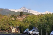 L'Etna visto dall'area sosta attrezzata Spuligni Zafferana Etnea (CT)
